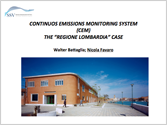 Continuous Emissions Monitoring System